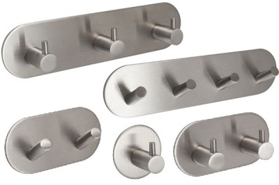 Self Adhesive Stainless Steel Coat Hooks