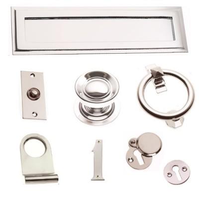 Polished Nickel Front Door Furniture